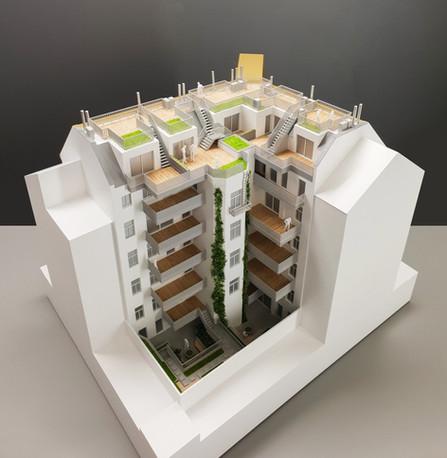 Modell des Immobilien Objektes von Scala Matta Modellbau Studio