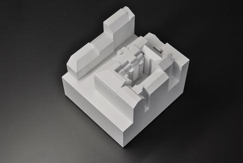 Modellbau Werkstatt Wien, Weißmodell, Modell in Maßstab 1:200