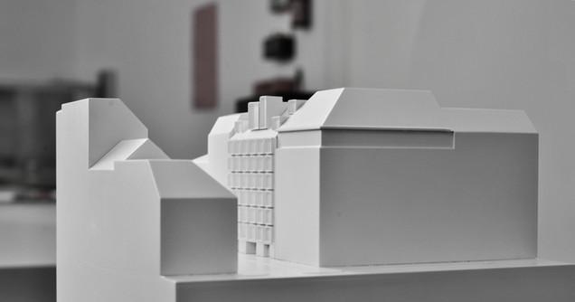 Weißmodell in Maßstab 1:200, Kunststoff - Polystyrol