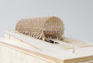 Architekturmodell aus Flugzeugsperrholz von Scala Matta Modellbau Studio, Modell Massstab 1:500