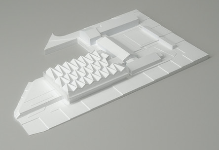 Architekturmodell in Wien, Wettbewerbmodell,  Architekturmodell der Schule, Modell in Maßstab 1:200, Modell Material: Polystyrol
