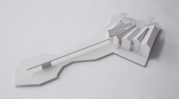 Wettbewerbsmodell von Scala Matta Modellbau Studio, Wien
