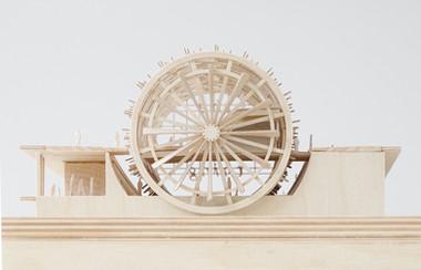 Architekturmodell aus Flugzeugsperrholz, Massstab 1:500. Expo 2020 Dubai. Architekturbüro - Smartvoll. Modellbau Studio - Scala Matta.