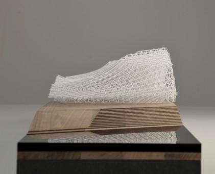 Architekturmodell DMMA, Modell in Maßstab 1:250, Modell Materialien: Holz, Metal, Plastik, Polystyrol, Acryl