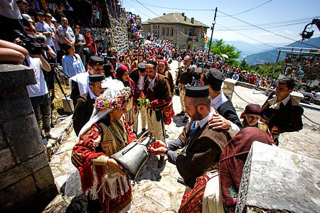 galicnik wedding, north macedonia