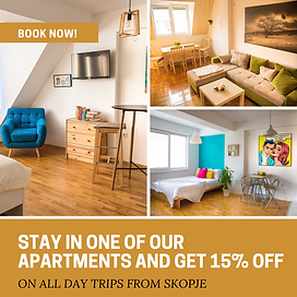 stay in one of our apartment and get 15%