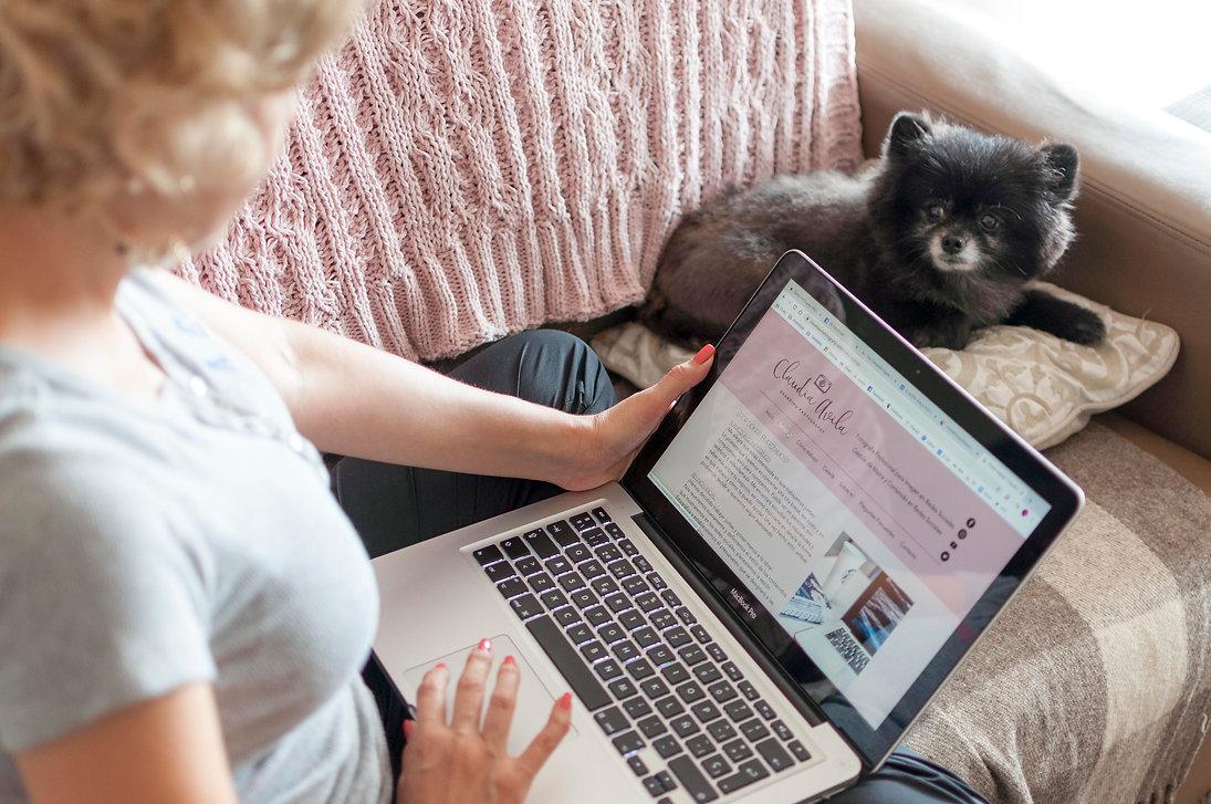 laptop, perro