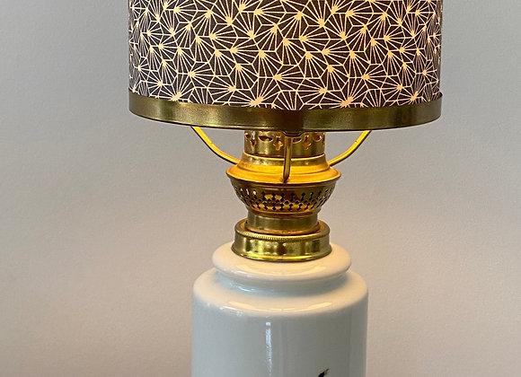 Vintage Copenhagen porcelain lamp
