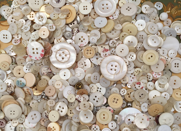 A collection of vintage buttons