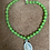 Thumbnail: Glass bead bracelets with vintage medallions