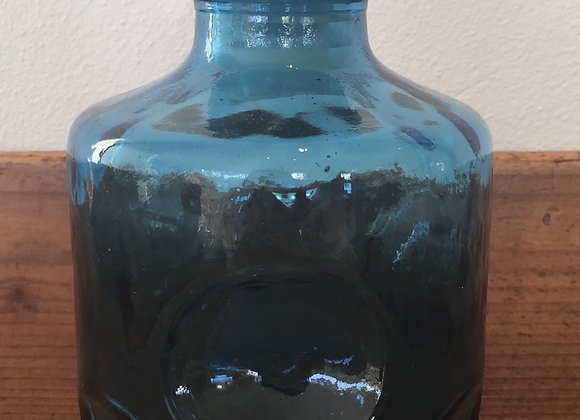 Vintage blue Italian bottle