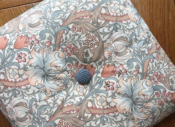 Cushion with William Morris fabric