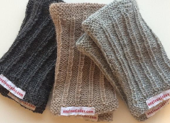 Hand knit wrist warmers