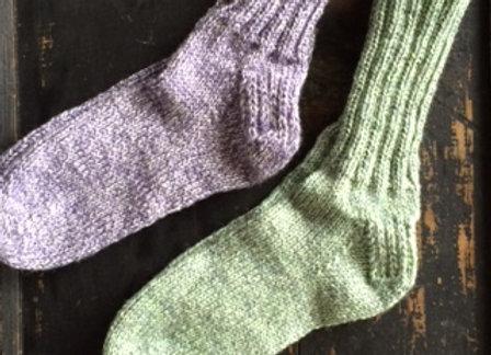 Hand-knit wool socks