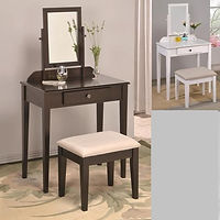 2208 White and espresso iris  vanity set