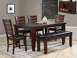 2152 barstwon, table ith bench, woodtable with 4 chairs, table, dinete table,crown mark