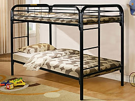 4501 black metal twin over twin bunk bed