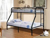 4502 black metal twin over full bunk bed