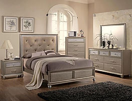 4390 Lila silver bedroom suite