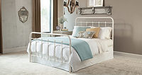 899 white wraught iron style bed