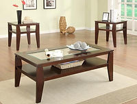 3707, coffee table, end table, crown mark, scott cocktail set, coffee and end table set