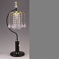 4897 Black and gold table raindrop lamp