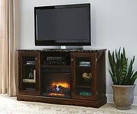 610-401 palmetto point entertainment console with fireplace