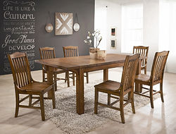 2286 lucille dining table and 6 chairs