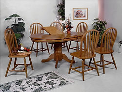 1052 oak table and 4 chairs with leaf