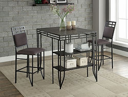 1716 matix, metal table with 2 stools,metal table black table, table ad 2 chars, black chars, metal stools, crown mark,