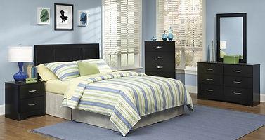 115 jacob black bedroom suite