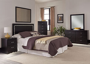 237 swag stipple black bedrrom suite