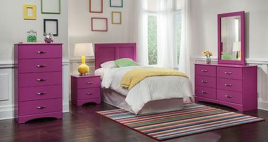 173 splash raspberry Bedroom suite