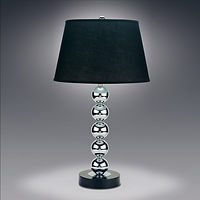 6288 Silver table lamp