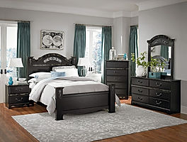 96,000 Series Verona post bed bedroom suite