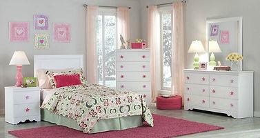269 Savannah white bedroom suite