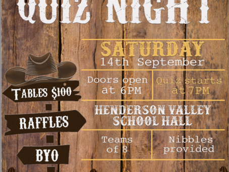 Have you booked your Quiz Night tickets yet?