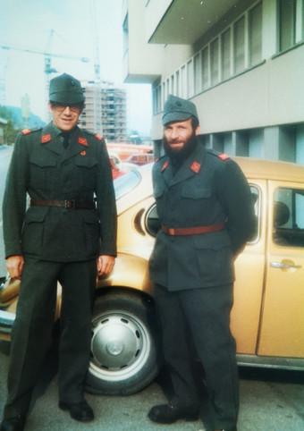 Heinz Glasl und Sepp Flüehler, Oktober 1981