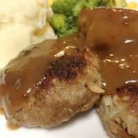 Rissoles with mash, veg and gravy