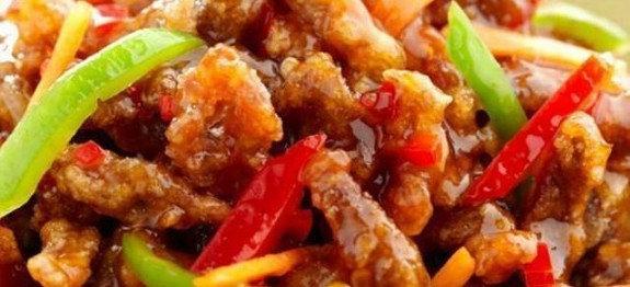 Crispy sweet chilli chicken stir fry