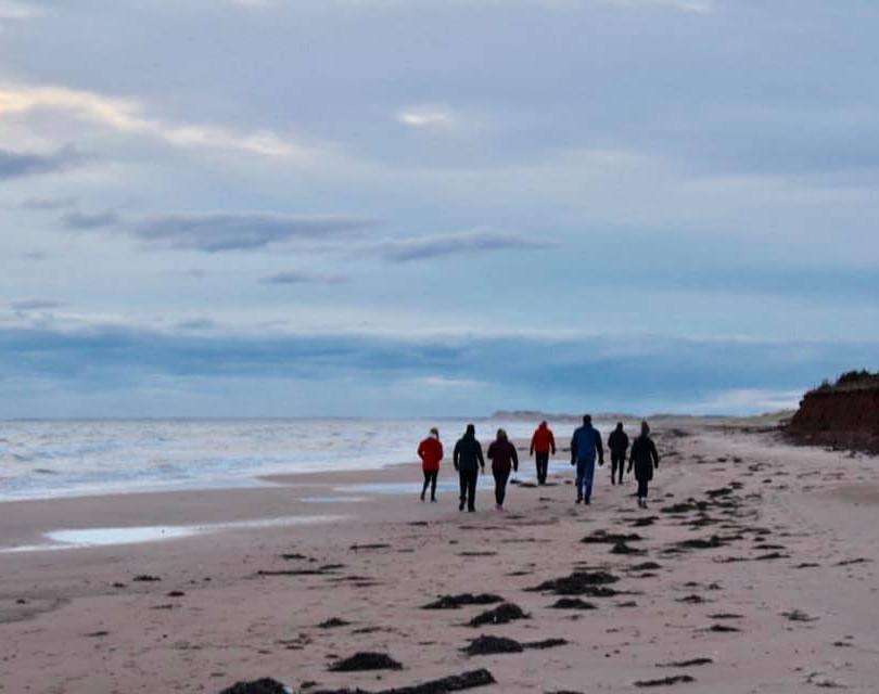 PEI Canada Dalvay Yoga Retreat Sunrise Beach Walk