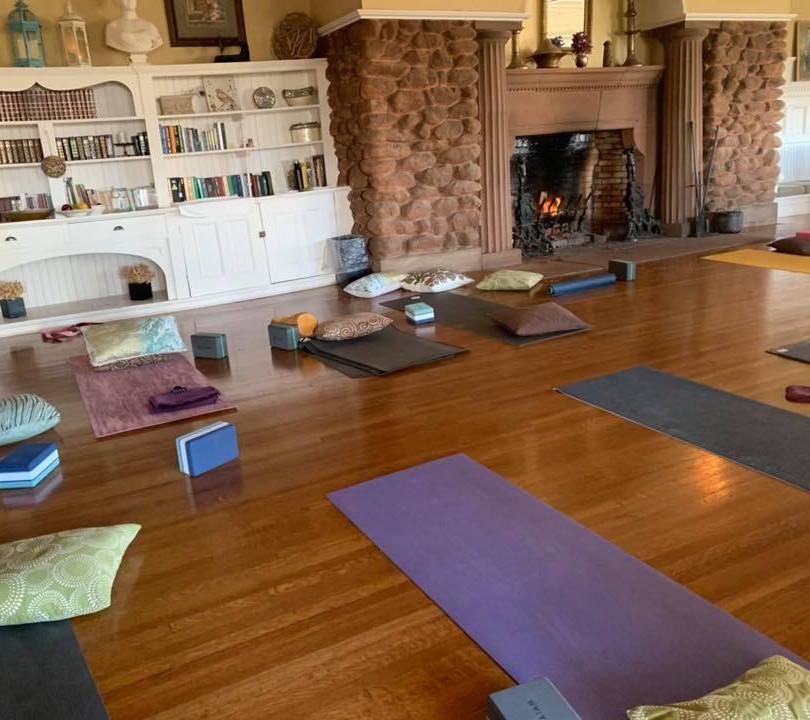 PEI Canada Dalvay Yoga Retreat Yoga Fireside