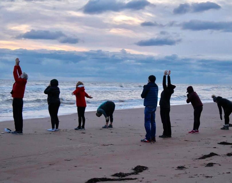 PEI Canada Dalvay Yoga Retreat Sunrise Sun Salutations