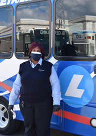 Driver Denise with blue bus 2.JPG