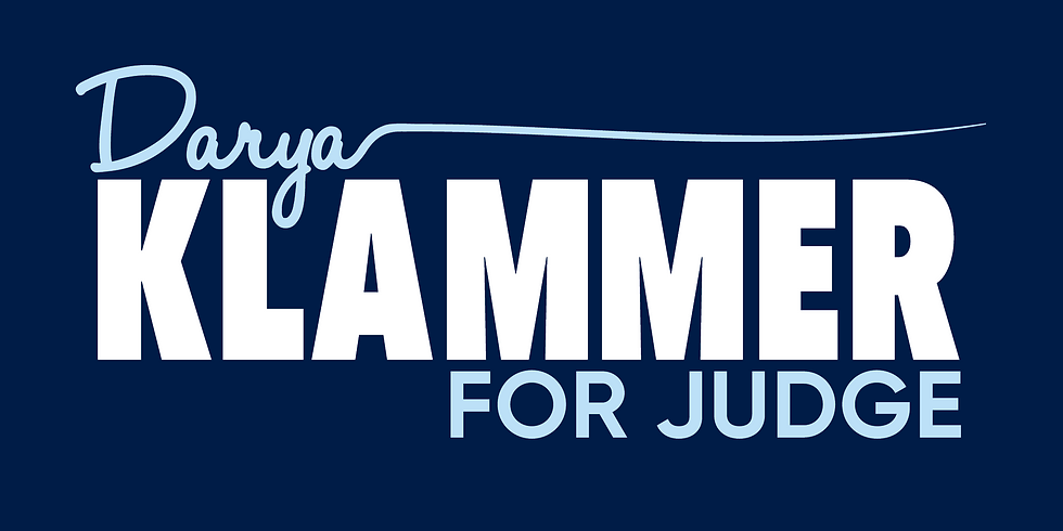 Darya Klammer for Judge Fundraiser