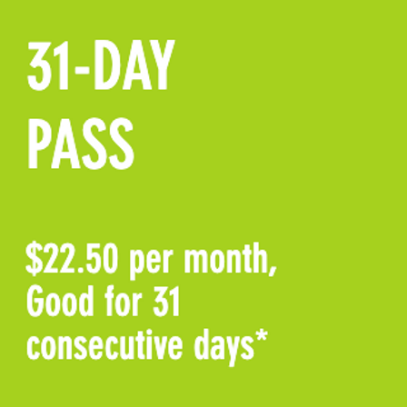 Reduced Fare 31-Day Pass*