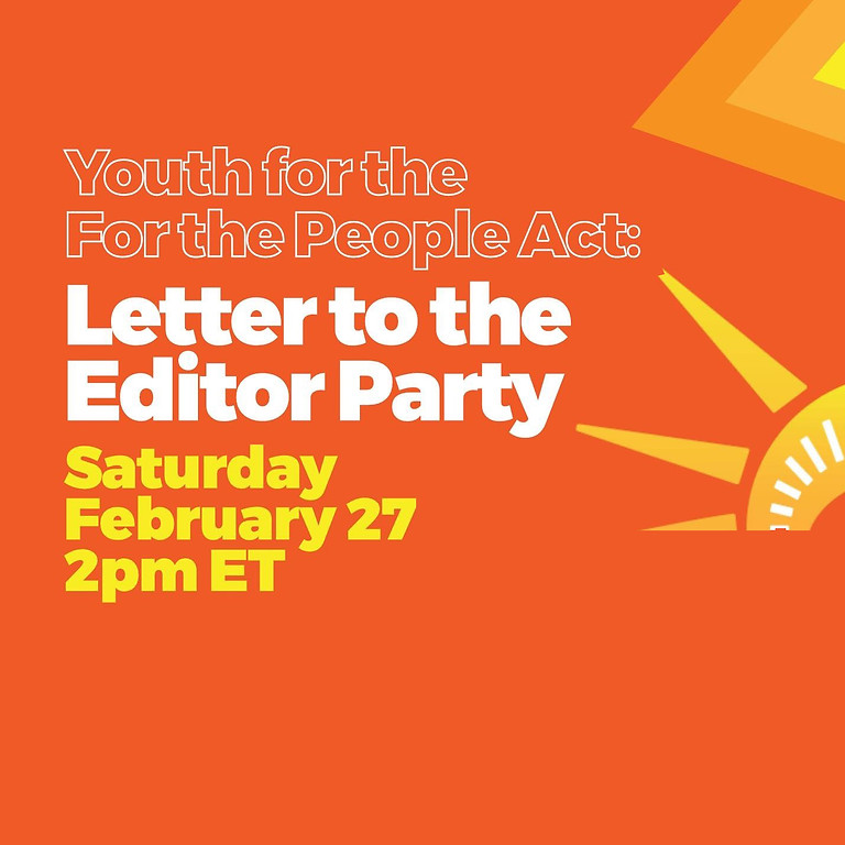 H.R.1 Letter to the Editor Party
