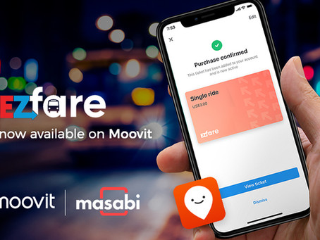 Moovit partners with EZfare and Masabi to make trip planning and paying easier and safer for riders