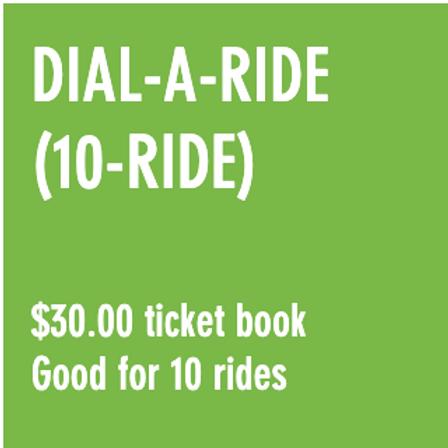 Reduced Fare Dial-A-Ride (10-RIDE) Ticket Book