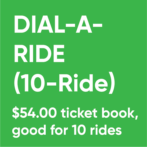 Dial-A-Ride (10-Ride) Ticket Book